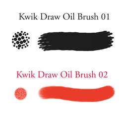 Kwik Draw Painter Oil Brushes by kwikdraw