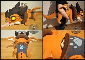 Riggle 1m Plush - Dragon trainer Tristana LOL by BoiraPlushies