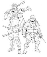 Raph and Casey by Teratophile