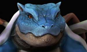 Blue turtle test render by Chenks-R