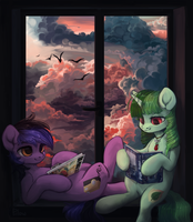 [YCH] Reading by GrayPillow