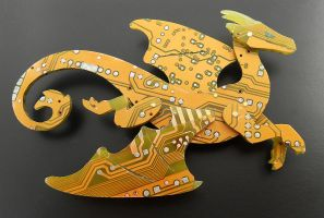 gold flier brooch by thebluekraken