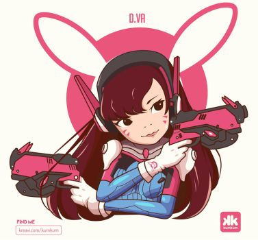 OVERWATCH D.VA by kum---kum