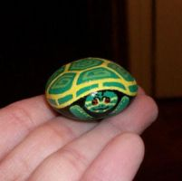 Mini painted turtle rock by TinyAna