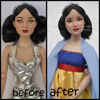 repainted ooak tonner snow white doll. by verirrtesIrrlicht