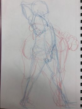 Life Drawing 4-17-18 3 by NWolfman
