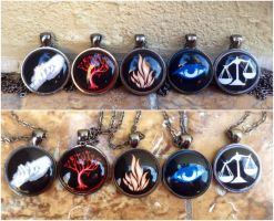 Divergent Faction necklace pendants by Saloscraftshop