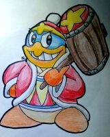 Kirby Doodle! - The Great Hammer King by SmashPro224