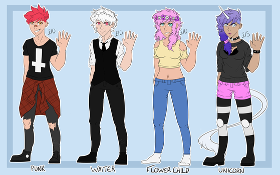 Adoptables - batch 1 (OPEN) by XxParadoxHysteriaxX