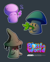 Bottle World Mushies by L-James