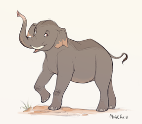 [CM] Asian elephant by Mistrel-Fox