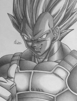 Vegeta Super Saiyan by Conzibar