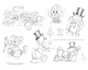 Rough Scrooge sketches