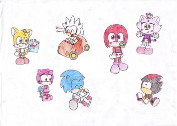 sonic and the others as babies by LeniProduction