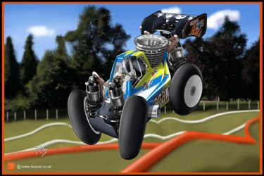 RC Cartoon of Agama A215 Nitro buggy by PIKEO