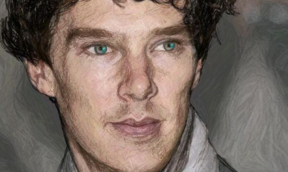 Benedict Cumberbatch - A study in Scribble (Color) by Merisha