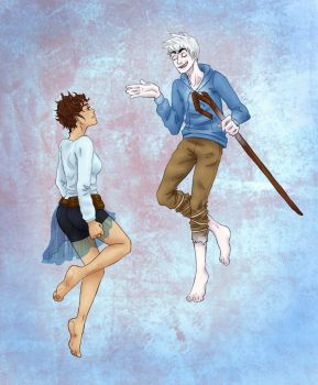Jack Frost and Sella COMMISSION by Sick-Satisfaction