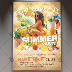 The End of Summer Party Flyer - PSD Template by PSDmarket