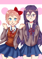 ~ Sayori and Yuri ~ by Mymzi