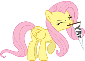 Fluttershy has a flag! by AxemGR