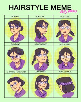 Miss Pauling Hairstyle Meme by Nachita99