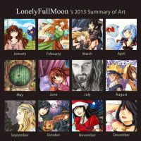 2013 Art Summary by LonelyFullMoon