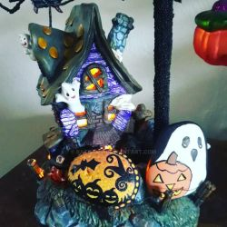 Halloween Painted Rocks by Batnamz