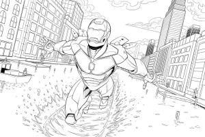 Iron Man Inks by Brian-Robertson