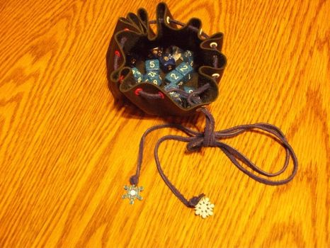 Drawstring dice bag by Frost-Claw-Studios