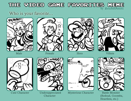 James's Video Game Favorites Meme by JamesmanTheRegenold