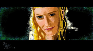 Galadriel MS PAINT by CaptainRedblood