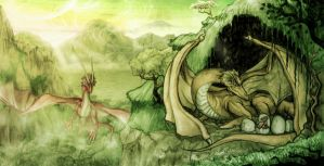 Dragons by dcbats2000