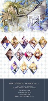 artist lineup for fate grand order fanbook by darkn2ght