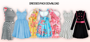 MMD Dresses Pack DL by UnluckyCandyFox