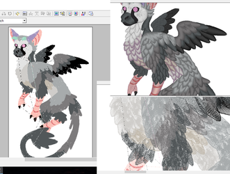 Trico ~ The Last Guardian embroidery pattern by CyanFox3
