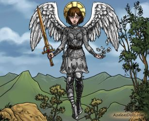 Joan Of Arc As An Epic Angel by MouseAvenger
