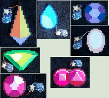 Steven Universe Gem Perler Sprites [For Sale] by Black-Tea-Dragon