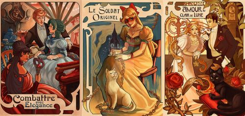 sailor moon artnouveau by audreymolinatti
