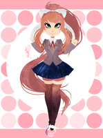 .:: Monika ::. +Speedpaint by OpalesquePrincess