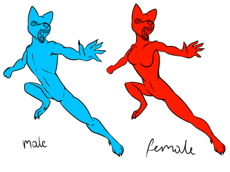 Male and Female Pose 1 (4 Slots each for Gender) by Fenris0604