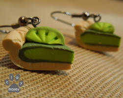 Key lime earrings by claymasey98