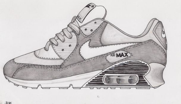 moseswitdapencil 5 2 Nike air max 90 in gray by marcepanz