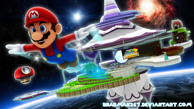 Mario to the Galaxies by BradMan267