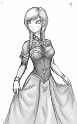 Frozen Anna Sketch by SimplySeed