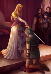 The Knighting of Link by mel-da-cat