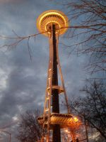 Space Needle by supremetechgoddess