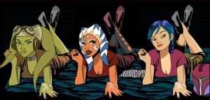 Hera Ahsoka Sabine sleepover Star Wars Rebels by Brandtk