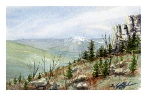 Mini watercolor: To the West by SALTWatercolors