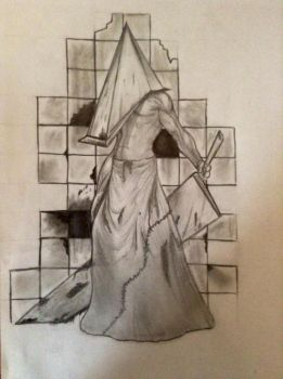 Pyramid head from silent hill by Lilmissandrea89