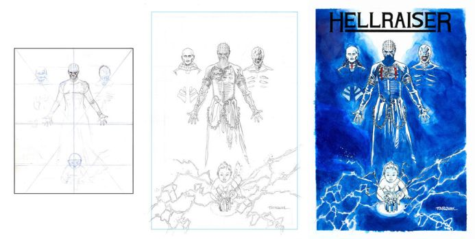 HELLRAISER COVER PROCESS by DENSHO-OTAKU